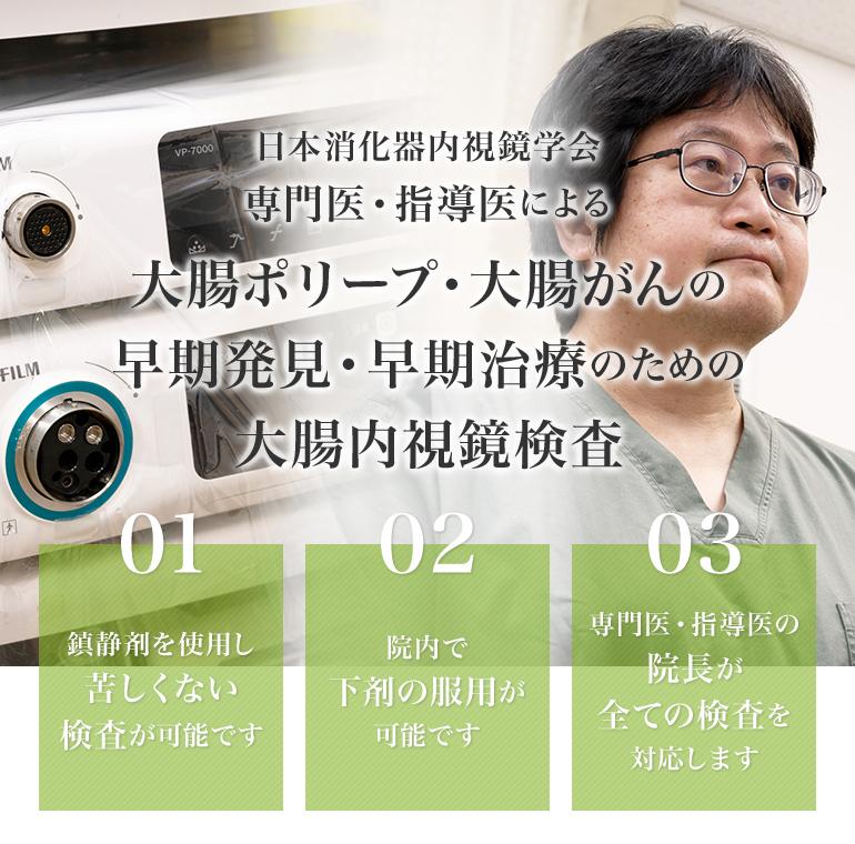 日本消化器内視鏡学会 専門医・指導医による大腸ポリープ・大腸がんの早期発見・早期治療のための大腸内視鏡検査